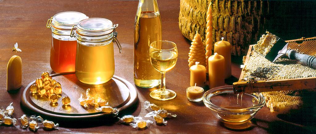 Stiellleben Honigprodukte